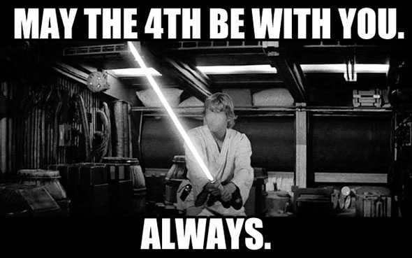 May the 4th be with you. Always.